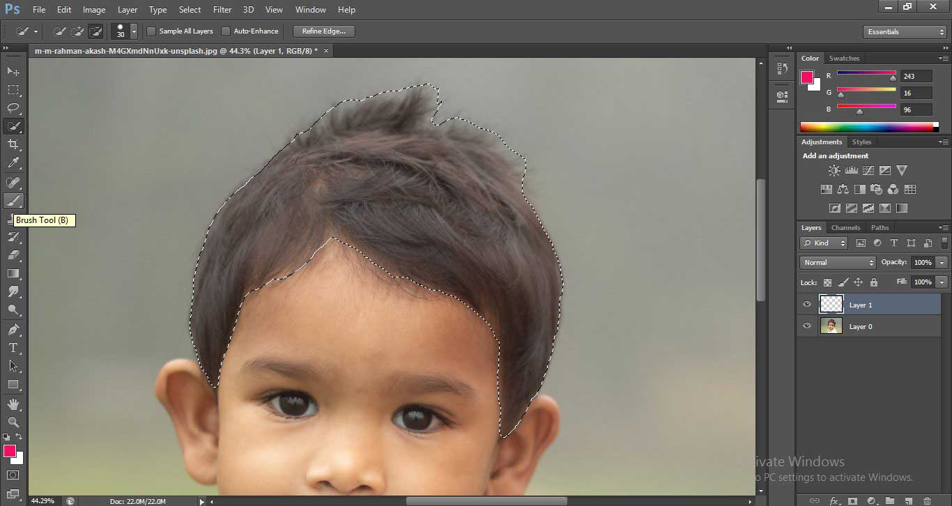Change Hair Color in Photoshop 1-16