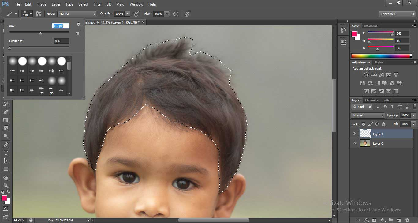 Change Hair Color in Photoshop 1-17