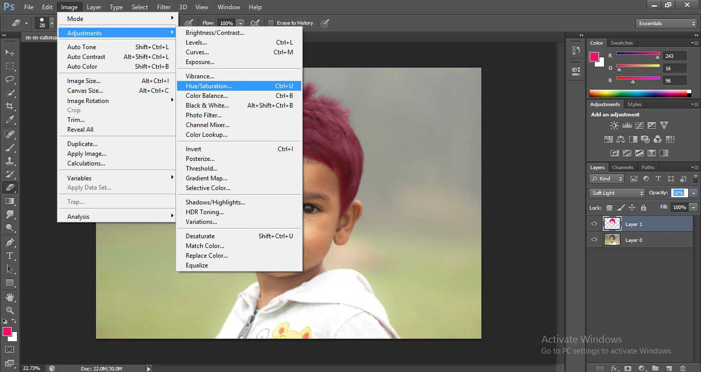 Change Hair Color in Photoshop 1-24