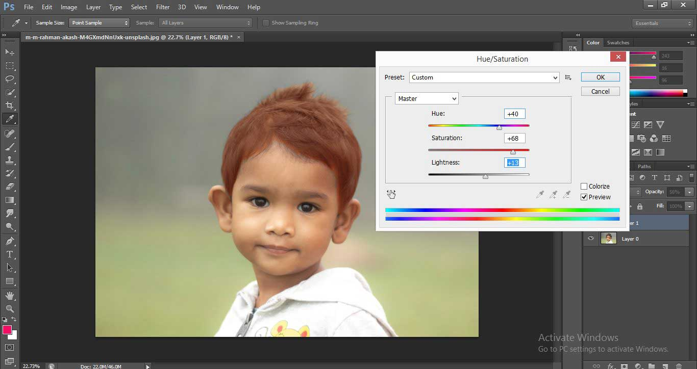 Change Hair Color in Photoshop 1-26