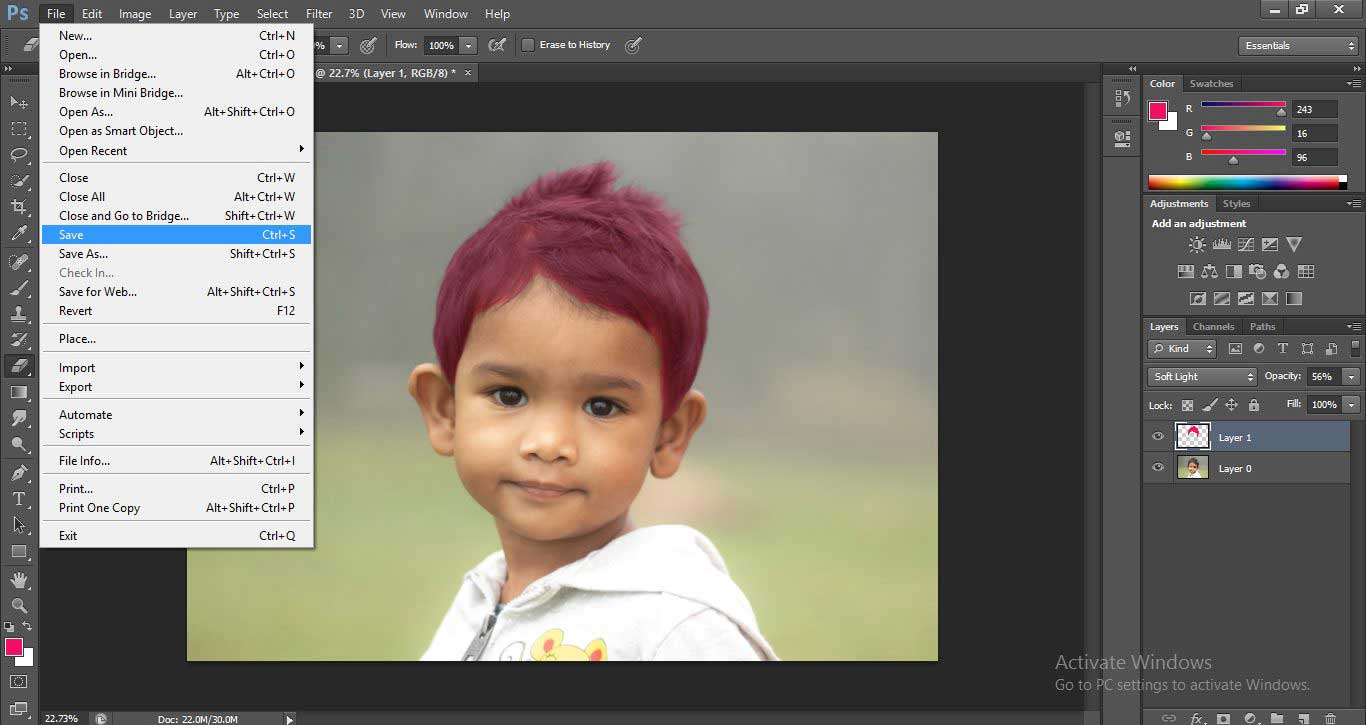 Change Hair Color in Photoshop 1-27