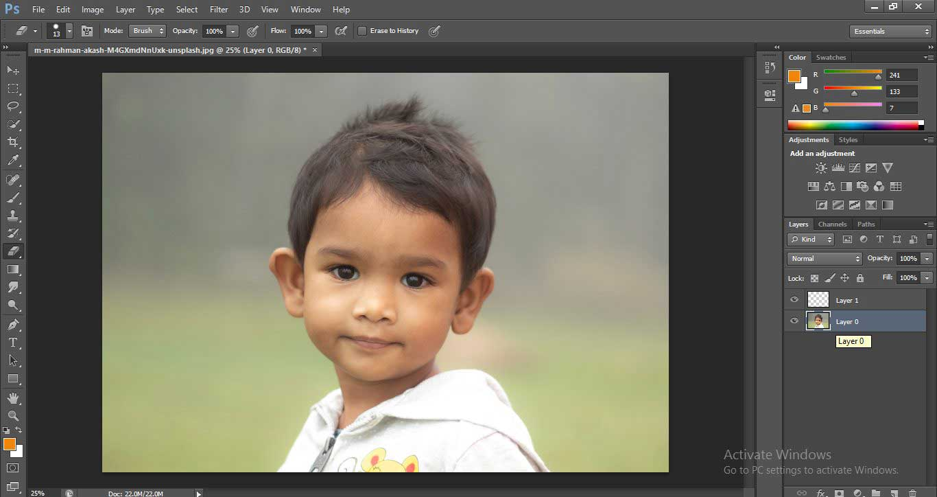 Change Hair Color in Photoshop 1-6