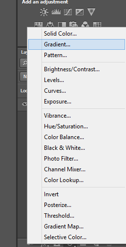 Make Logo in Photoshop - Selecting Gradient