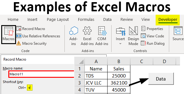Examples of Excel Macros
