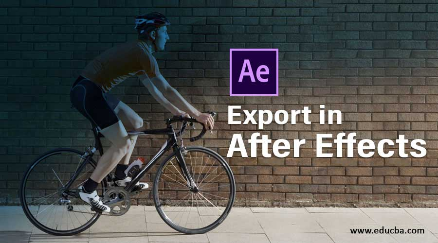 Export in After Effects