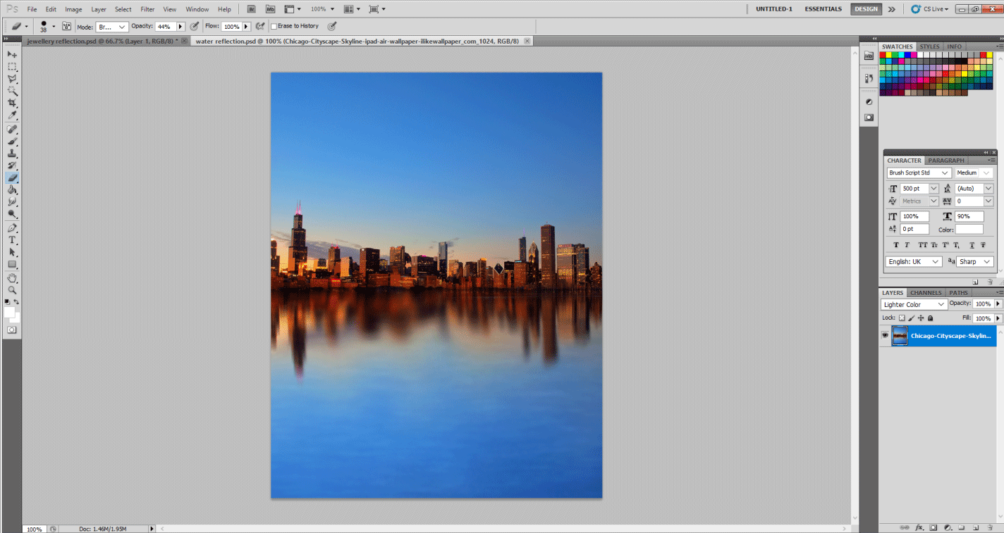 Final image (reflection effect in photoshop)