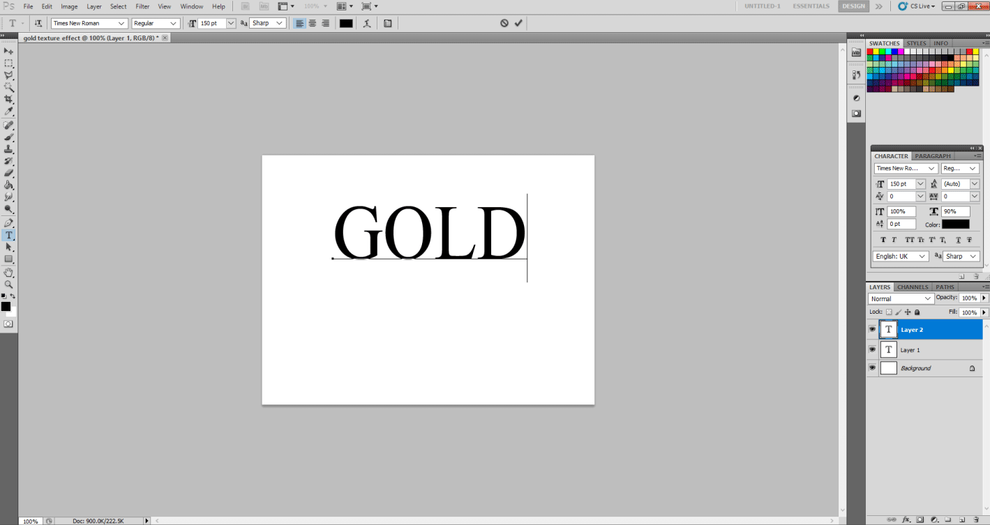 Gold Text Effect in Photoshop 1-22