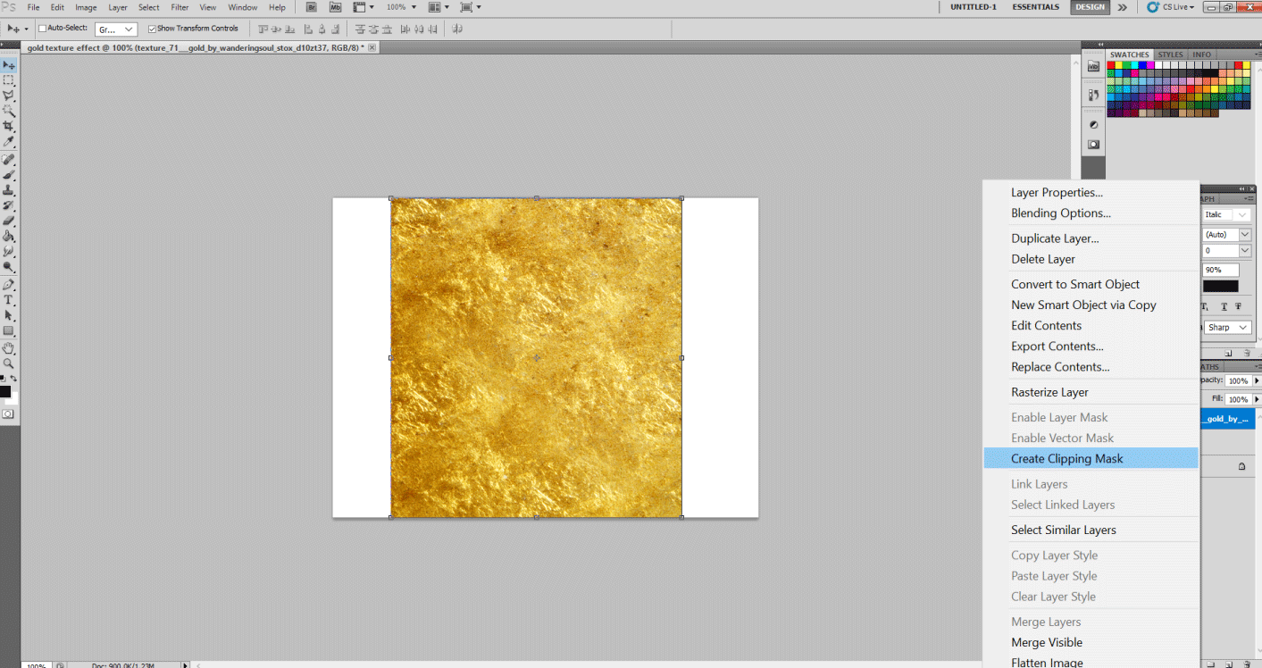 Gold Text Effect in Photoshop 1-26