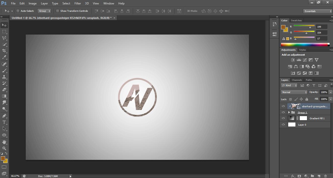 Make Logo in Photoshop - Final Logo