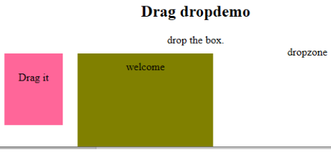 Drag dropdemo