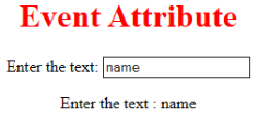 HTML Event Attribute 9