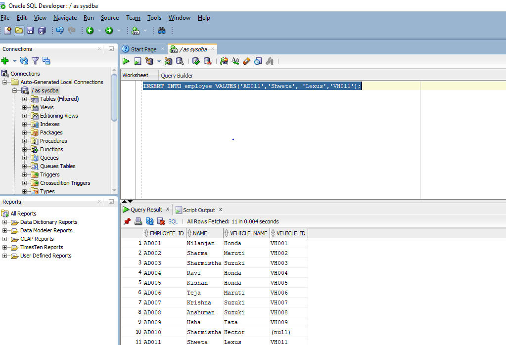 INSERT in Oracle 1-2