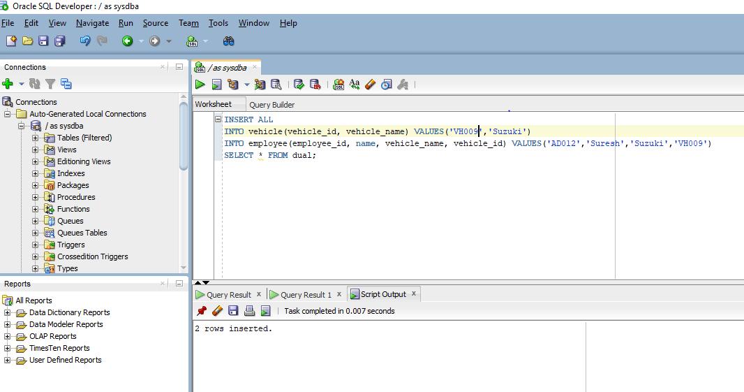 data on multiple tables