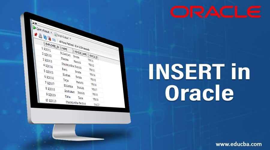 INSERT in Oracle