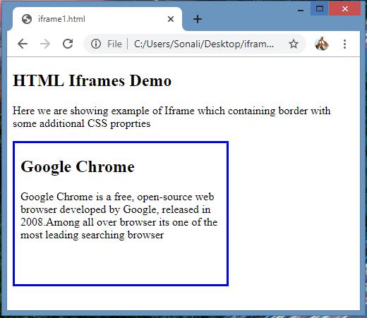 Iframes in HTML eg3