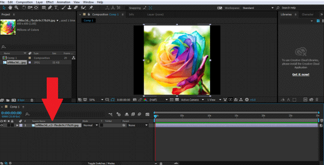 Masking Layers in After Effects - Importing Image
