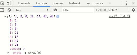 Insertion Sort in JavaScript-1.1