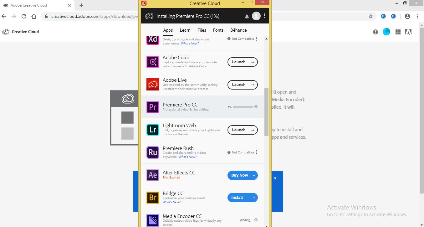 Install Adobe Premiere Pro 1-12