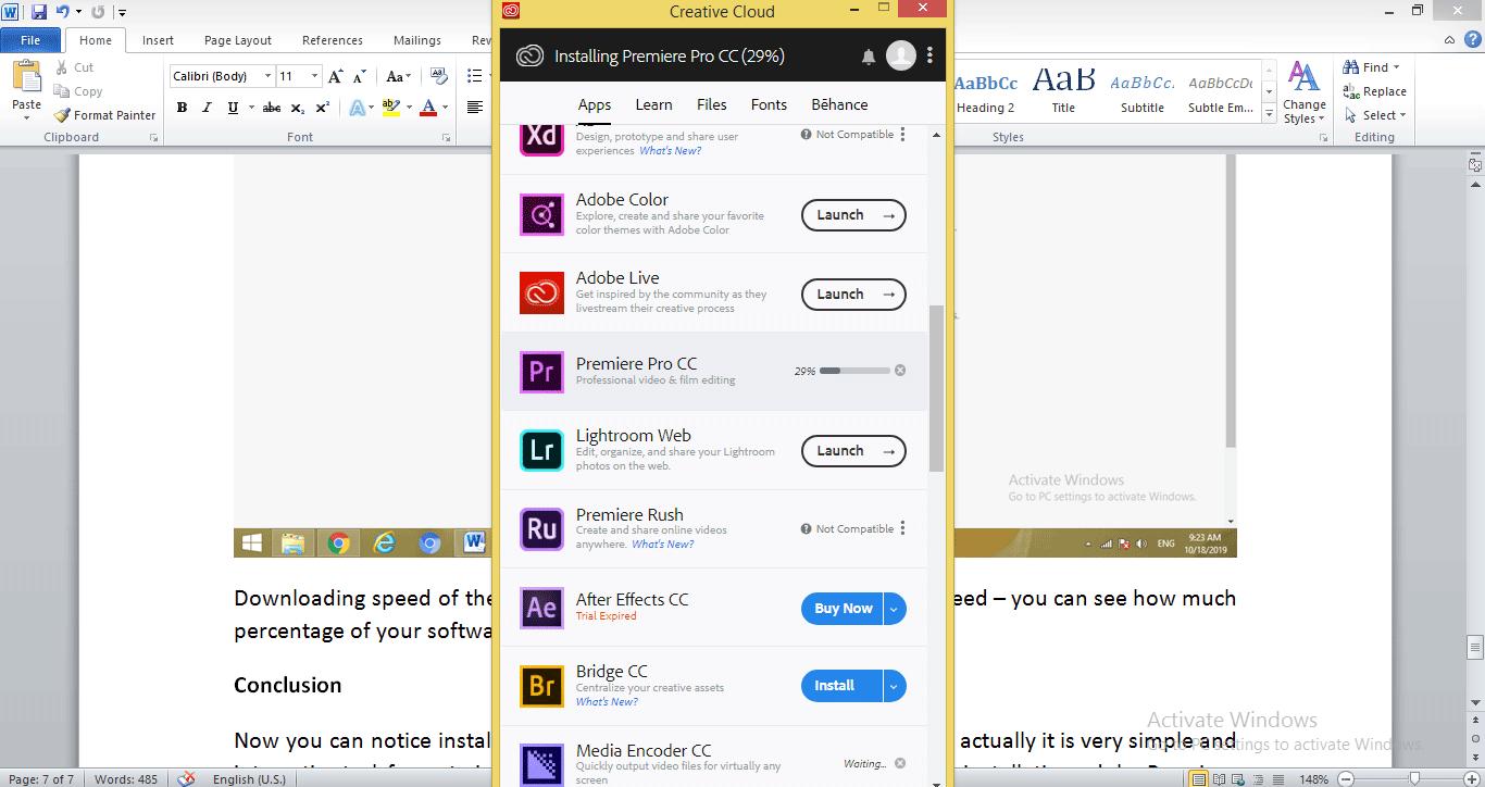 Install Adobe Premiere Pro 1-13