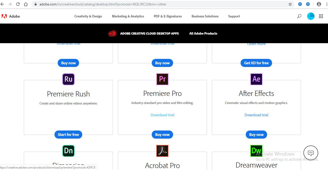 Install Adobe Premiere Pro 1-5