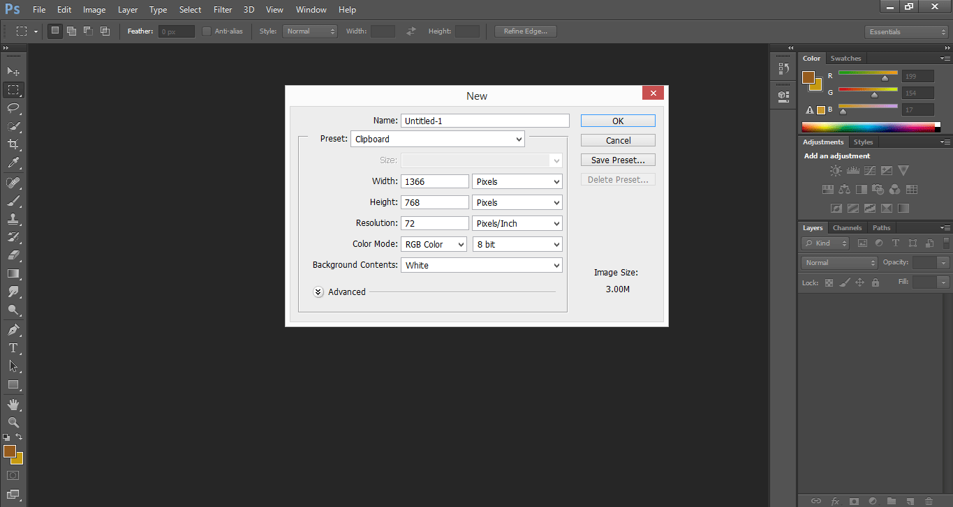 Layer Dialog Box