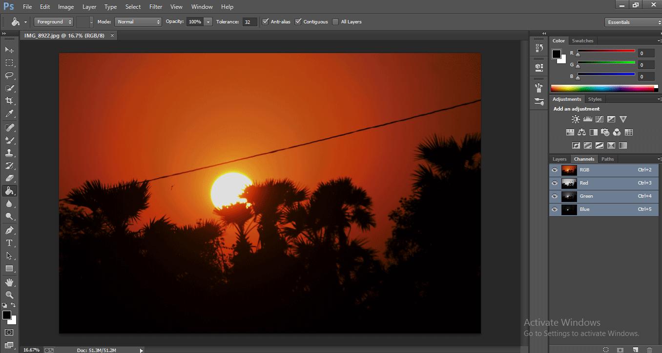 Photoshop Mixer Brush Tool 1-1