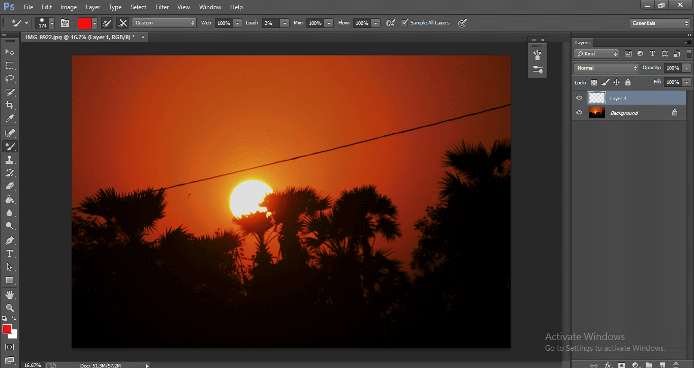 Photoshop Mixer Brush Tool 1-16