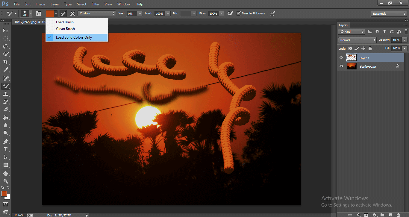 Photoshop Mixer Brush Tool 1-23
