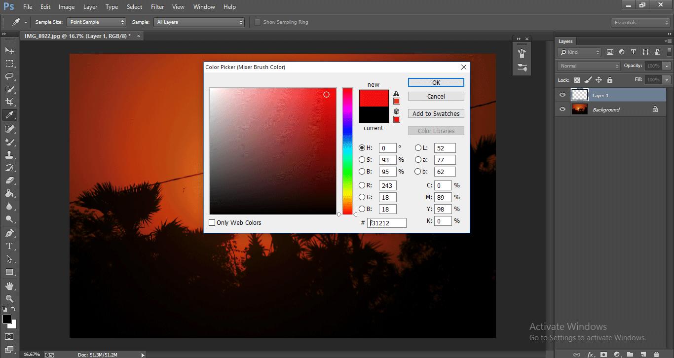 Photoshop Mixer Brush Tool 1-5