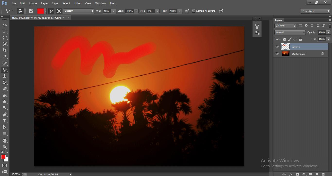 Photoshop Mixer Brush Tool 1-6