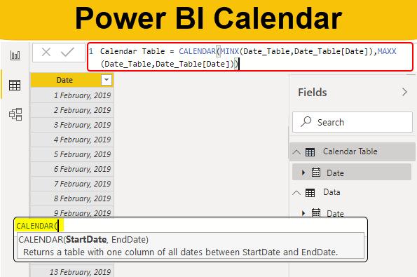 Power BI Calendar