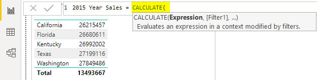 CALCULATE function Example 1-6