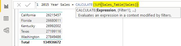 SUM function Example 1-7