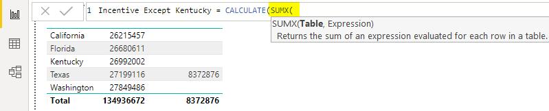 SUMX function Example 2-3