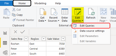 Edit Queries Example 1-3