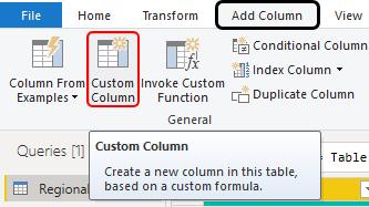 Use Custom Column option Example 2-1