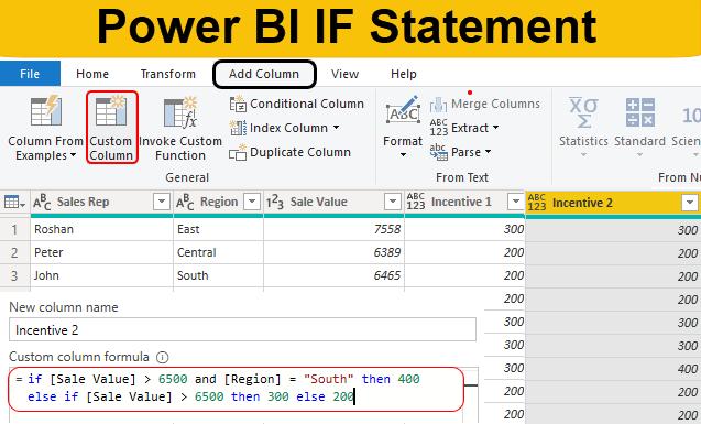 Power BI IF Statement