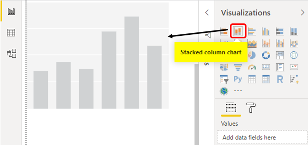 Select Stacked Column Chart Example 1-11
