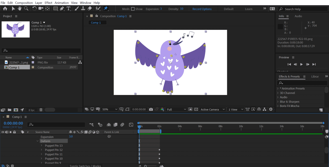 Puppet Tool in After Effects 1-4