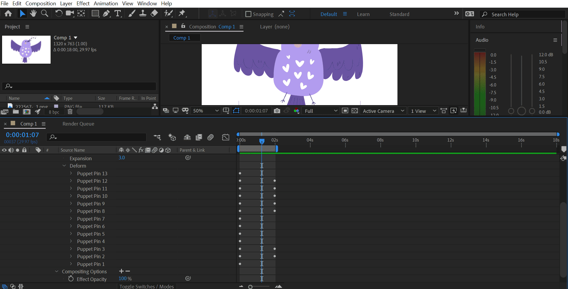 Puppet Tool in After Effects 1-5