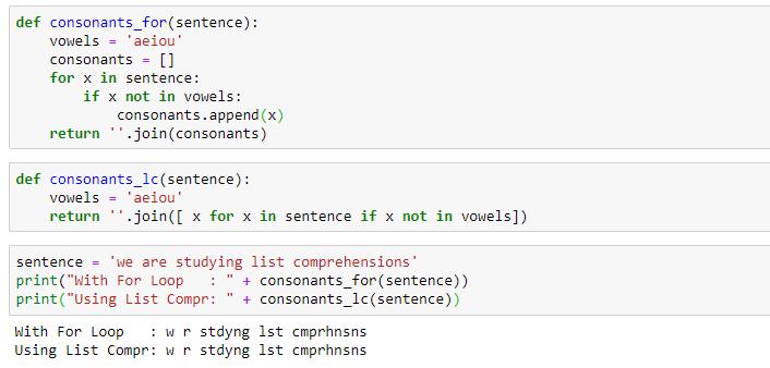 Python List Comprehension eg2