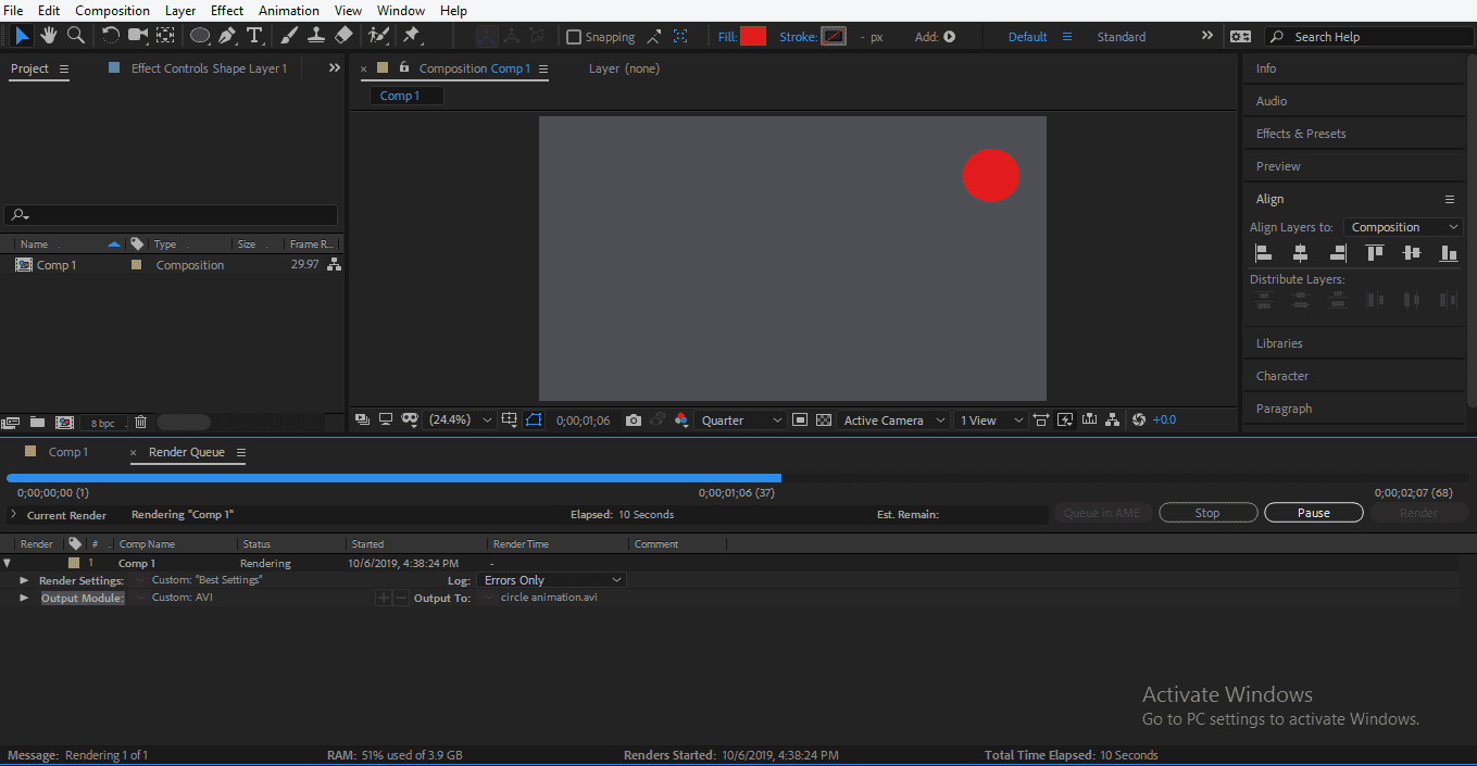 Rendering in Animation