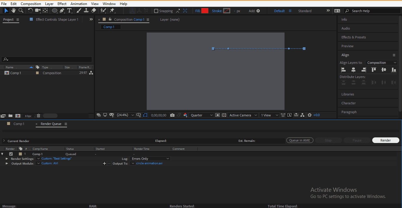 Rendering Animation