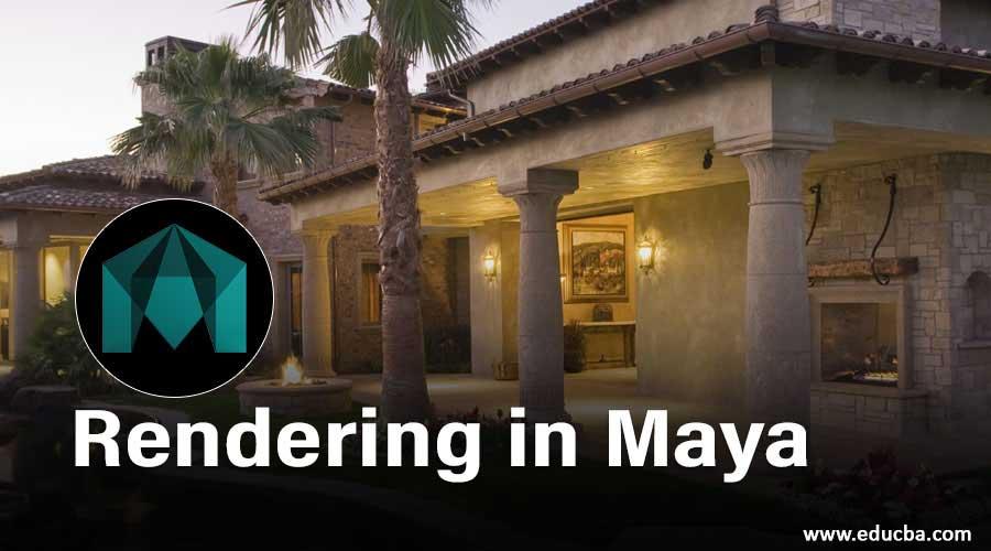Rendering in Maya