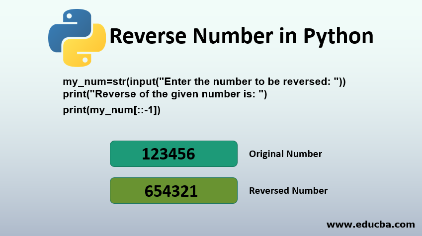 Reverse Number in Python