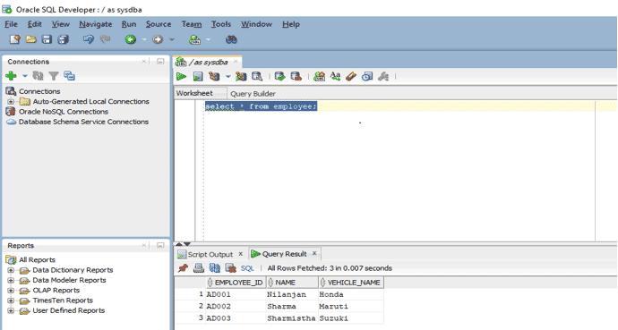 Select in Oracle eg1