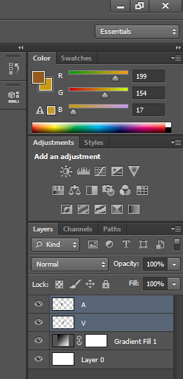 Selecting Both Layers