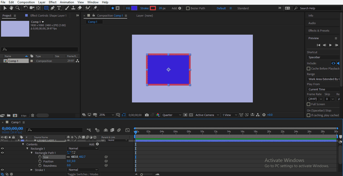 Shape Layer in After Effects 1-17