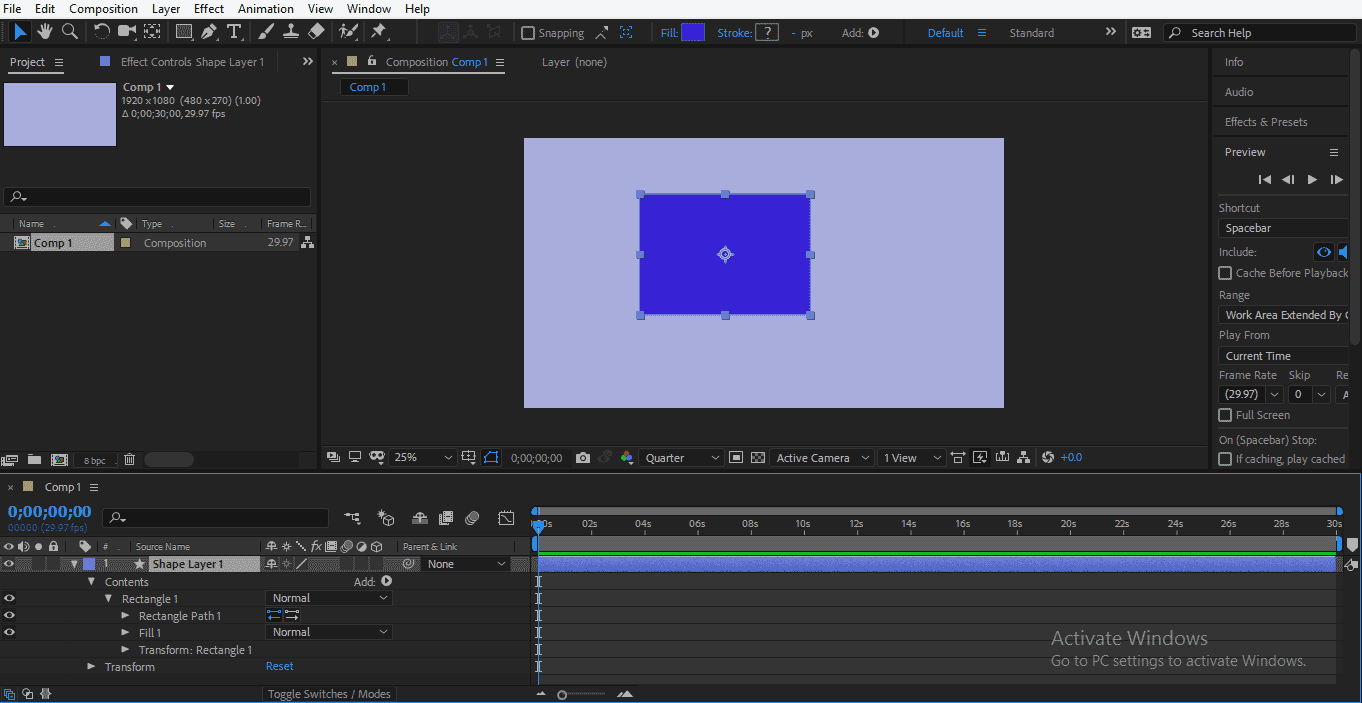 Shape Layer in After Effects 1-20