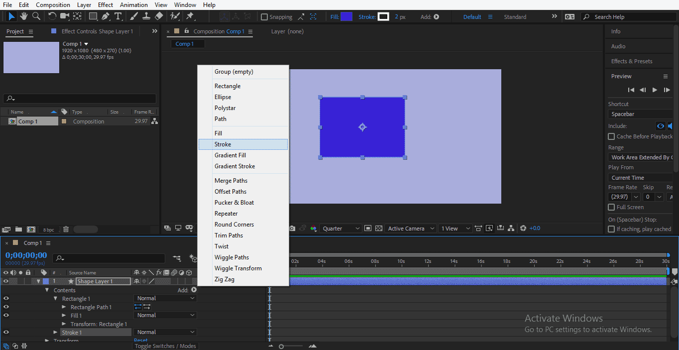 Shape Layer in After Effects 1-21